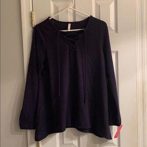 criss cross sweater top